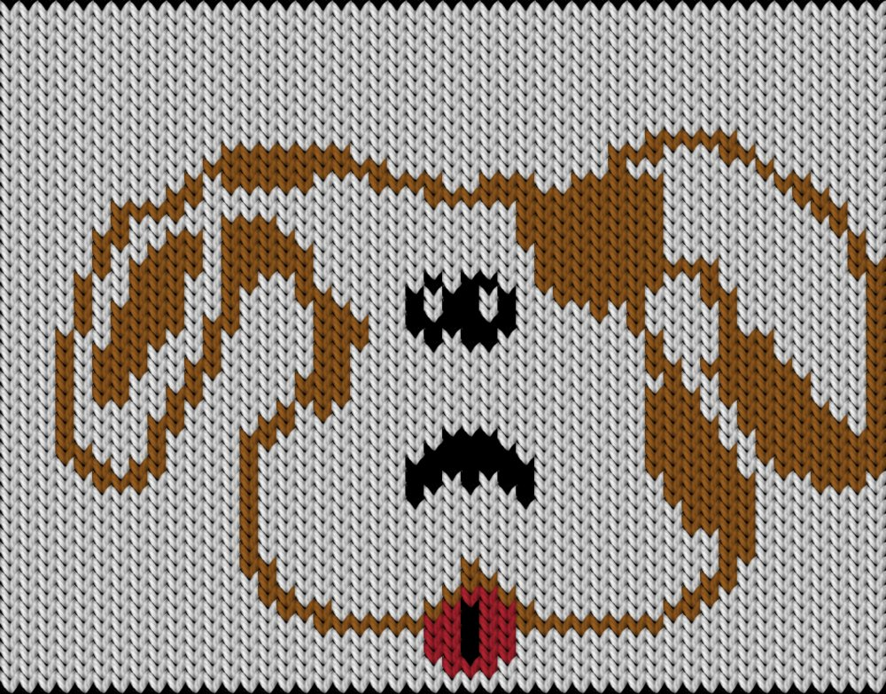 Knitting Pattern With Dog Motif : Knitting motif and knitting chart, Dog, designed by Knitty