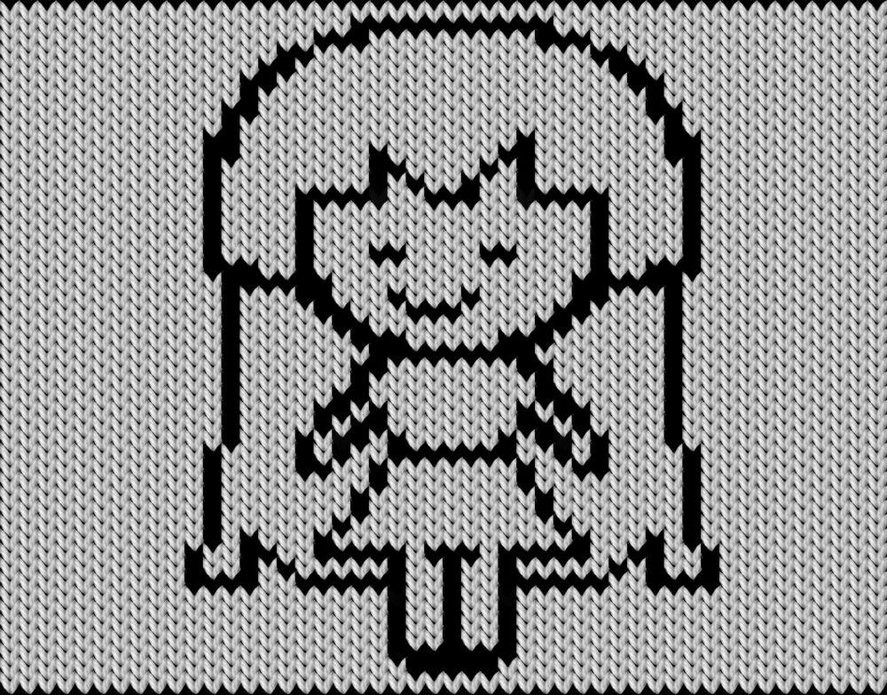 Knitting motif chart, girl