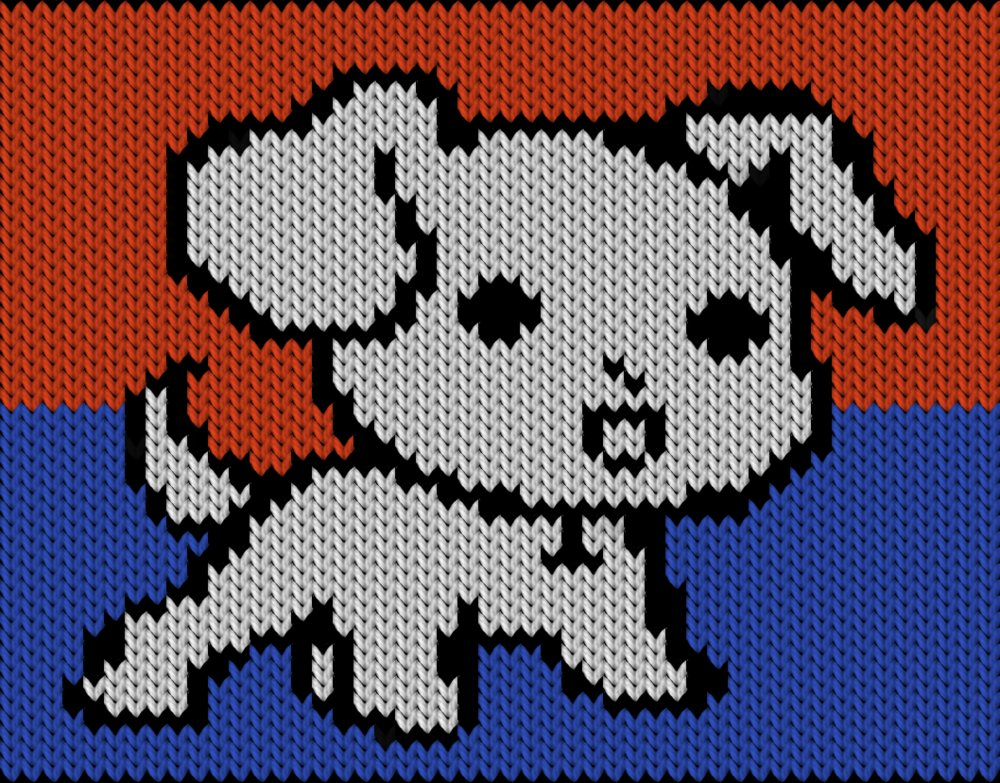 Knitting Motif And Knitting Chart Cute Litle Dog Designed By Knitty