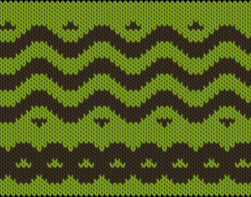 Knitting motif chart, waves