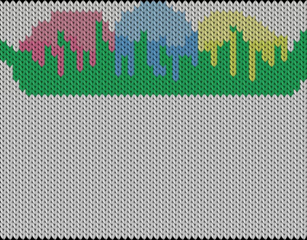 Knitting motif chart, Easter