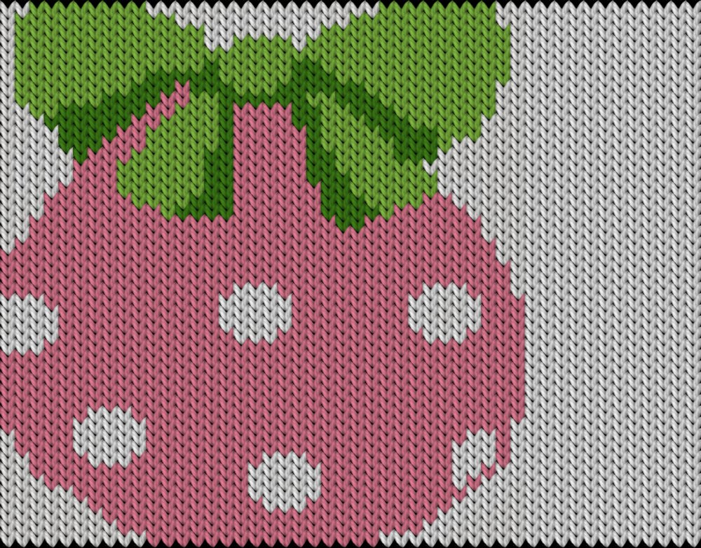 Knitting motif chart, Pink Easter