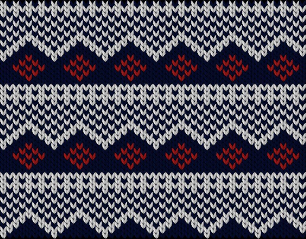 Knitting motif chart, Nordisk inpired