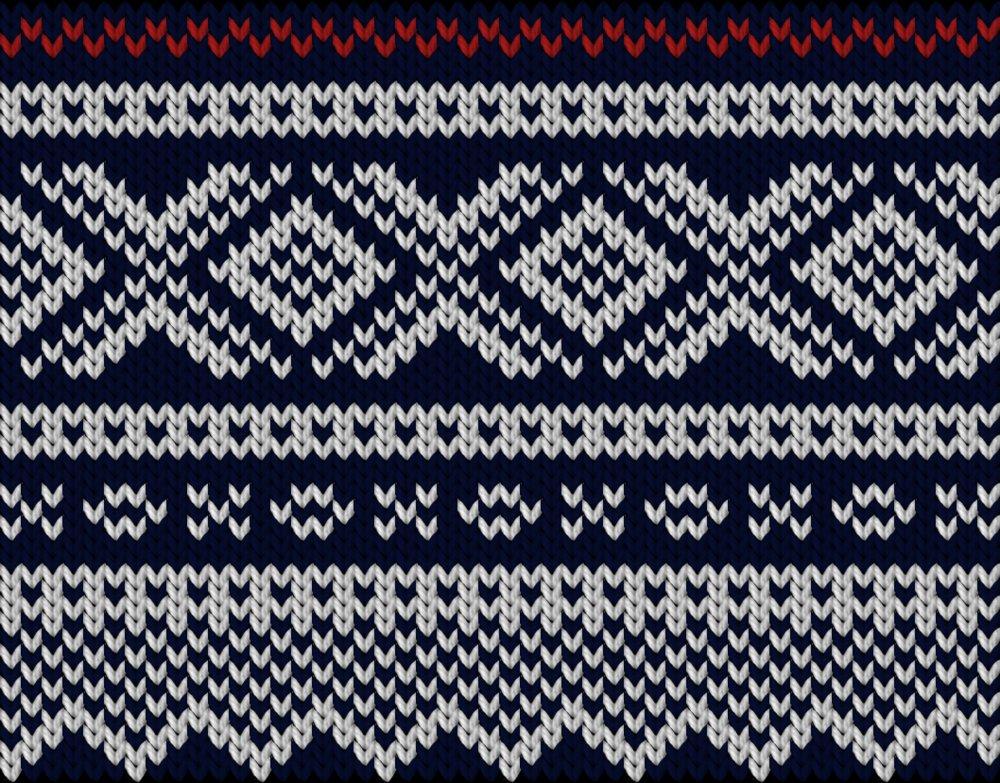 Knitting motif chart, Mariusgenser motif