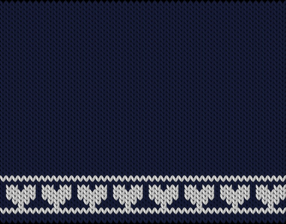 Knitting motif chart, Hearts i row