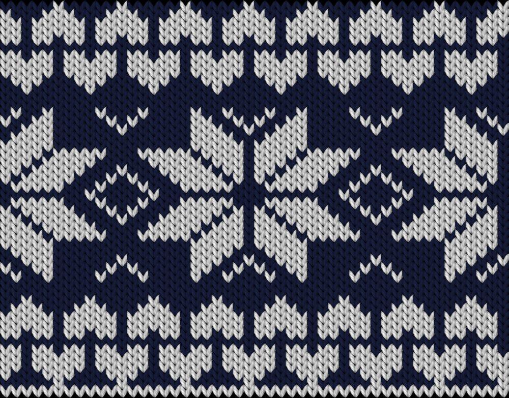 Knitting motif chart, Hearts an strars