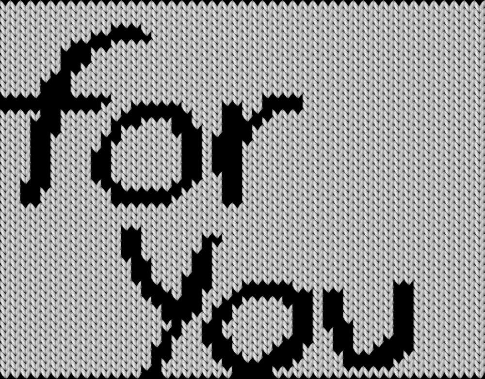 Knitting motif chart, for You