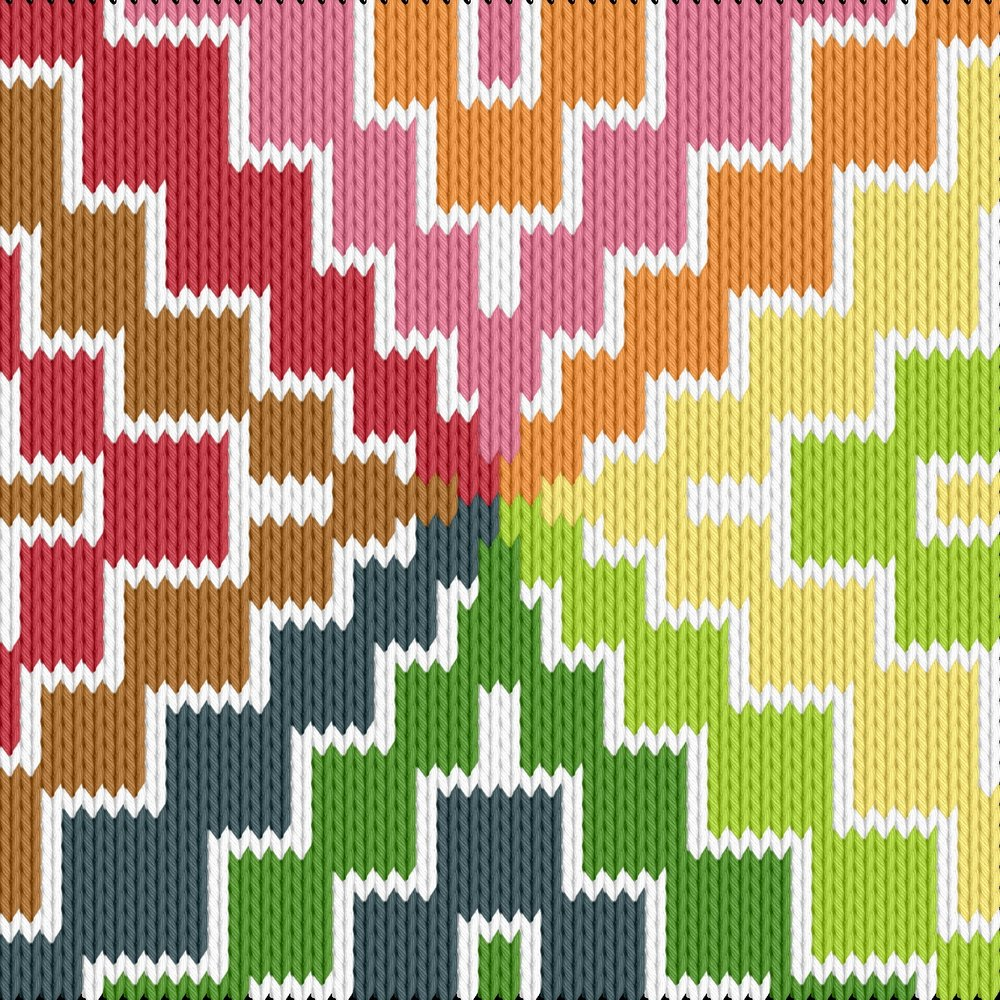 Knitting motif chart, rutor