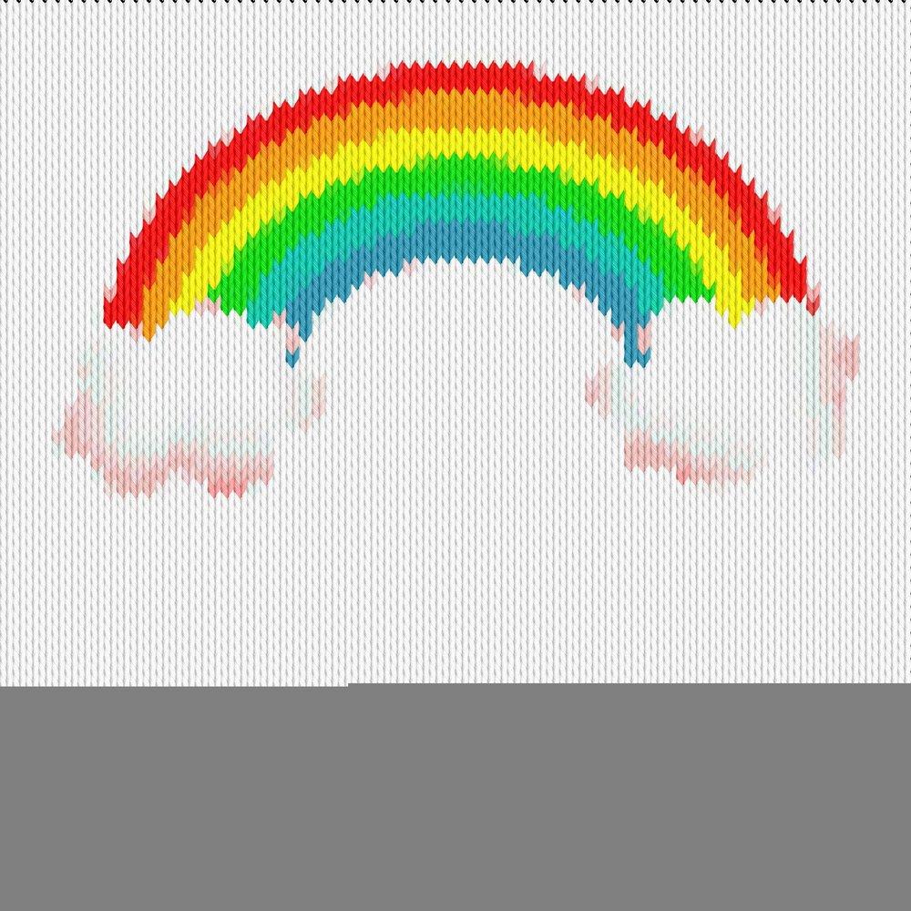 Knitting motif chart, Rainbow2