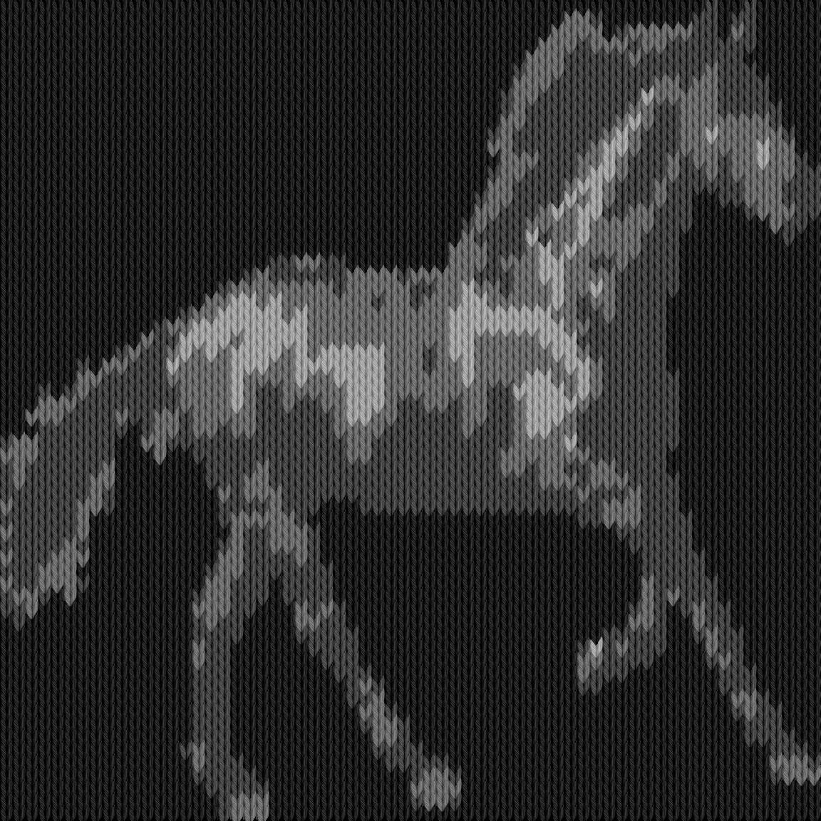 Knitting motif chart, horse