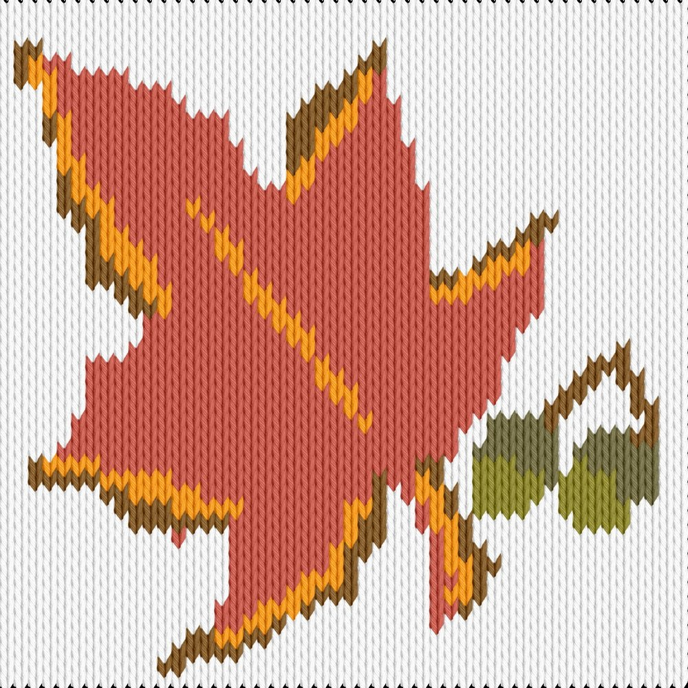 Knitting motif chart, Autumn 1