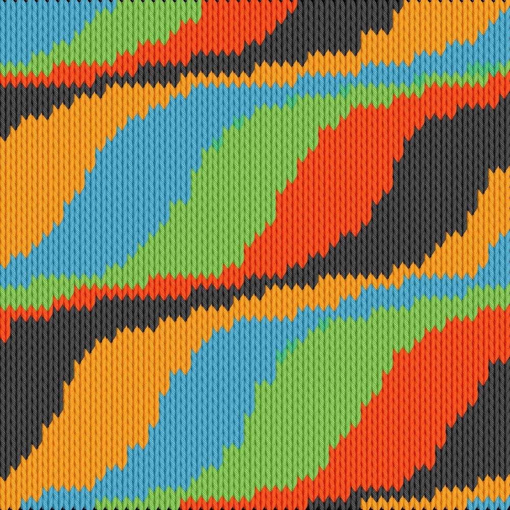 Knitting motif chart, Wawes