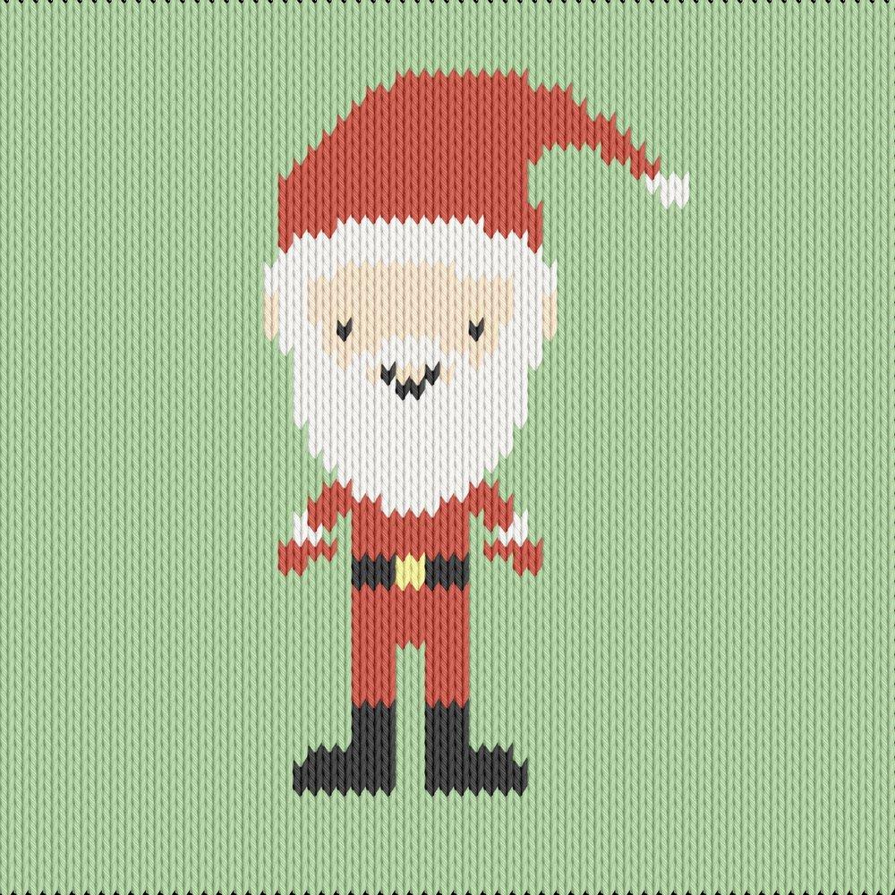 Knitting motif chart, santa