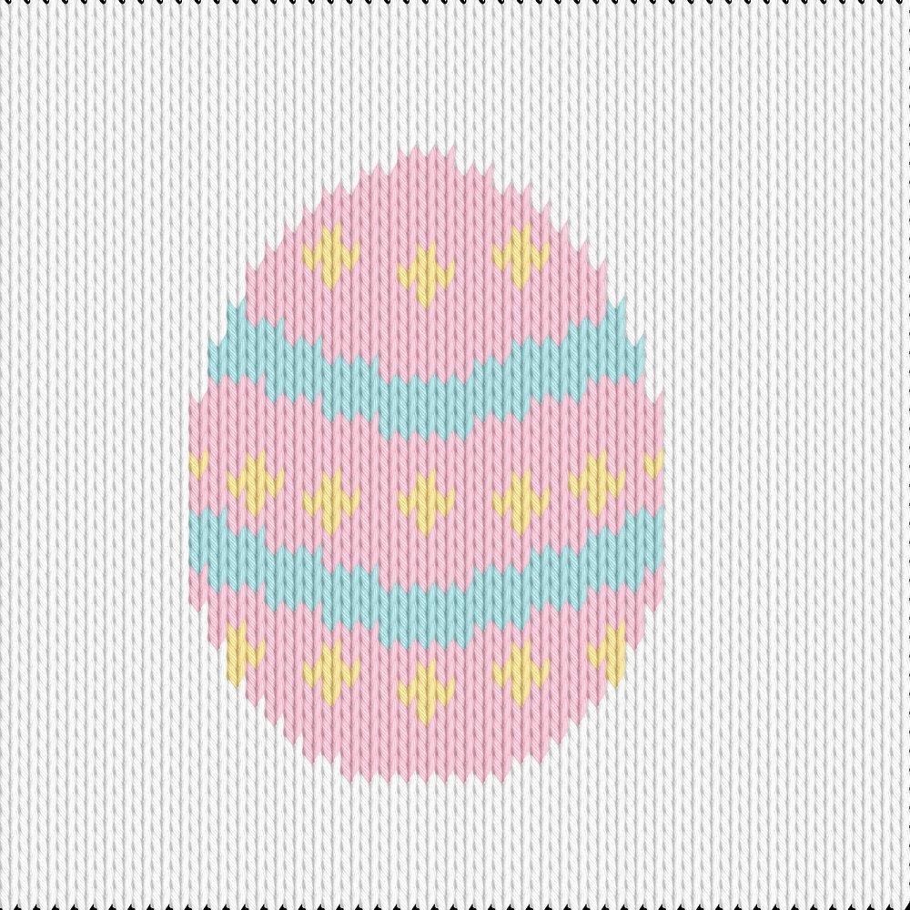 Knitting motif chart, easter egg