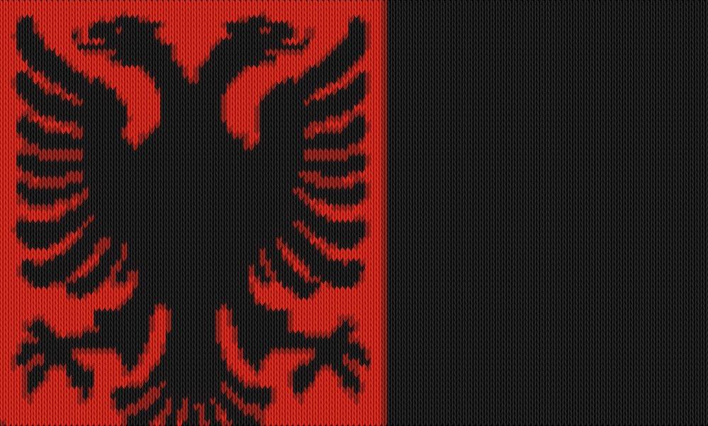 Knitting motif chart, albanien