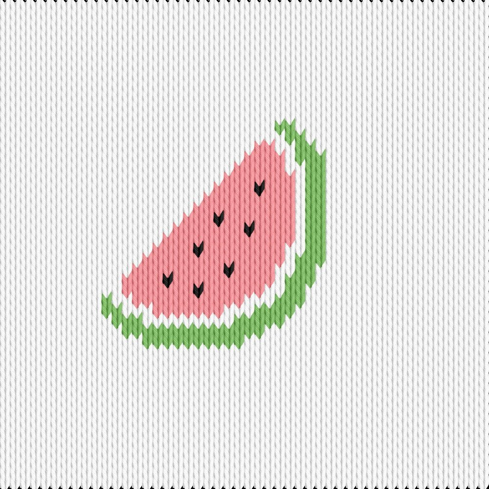 Knitting motif chart, melon