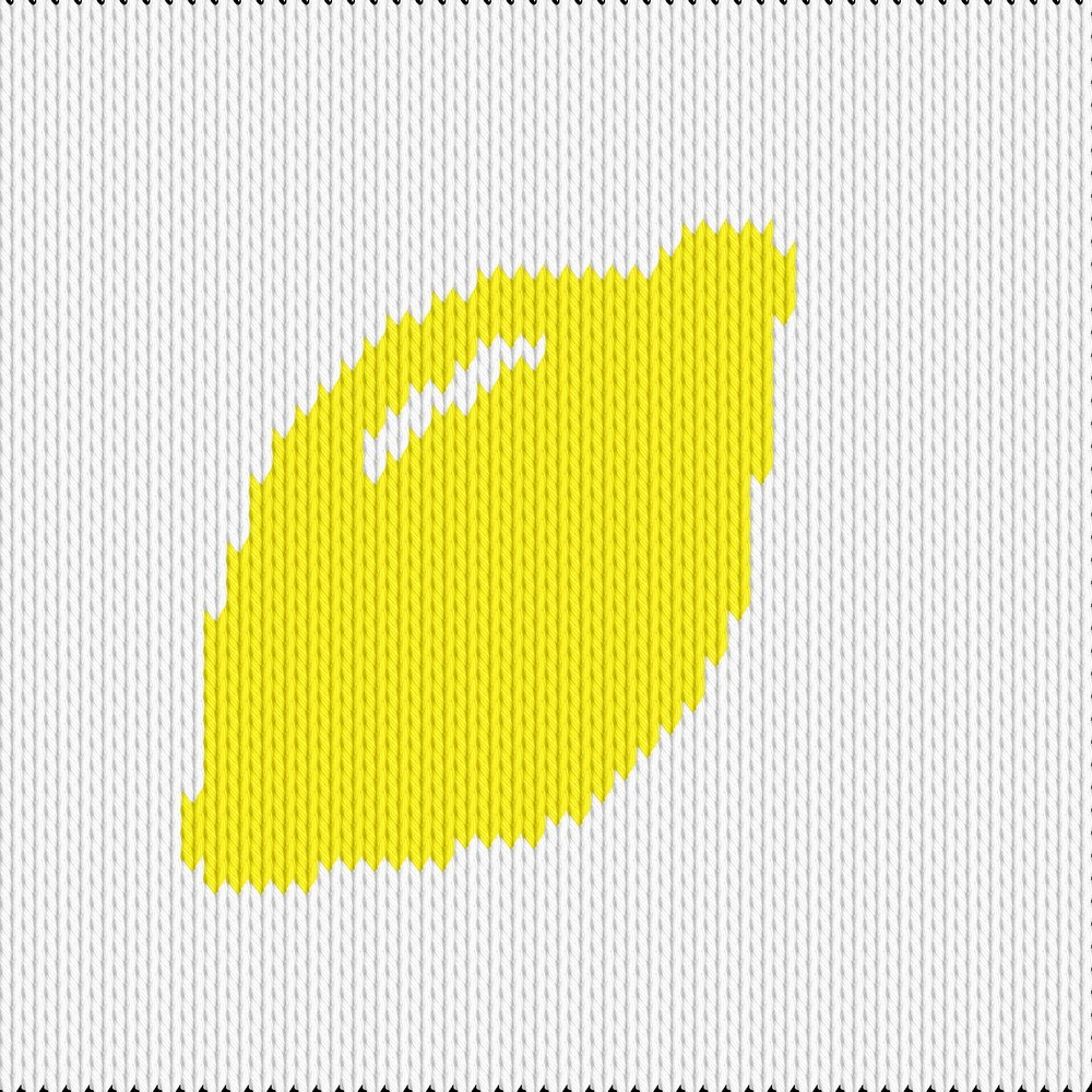 Knitting motif chart, citron