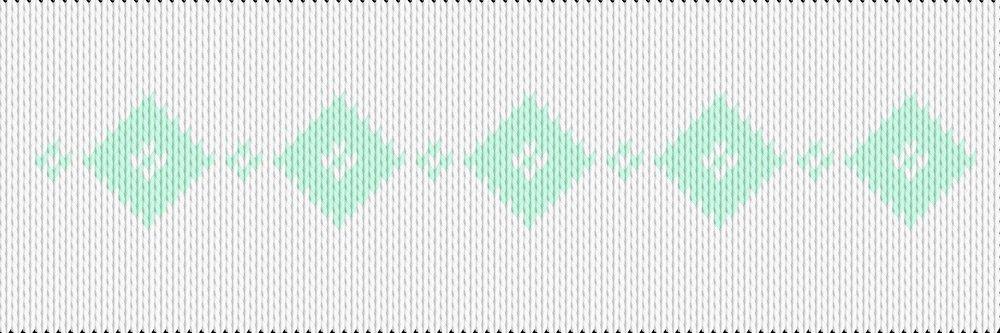 Knitting motif chart, rhombus