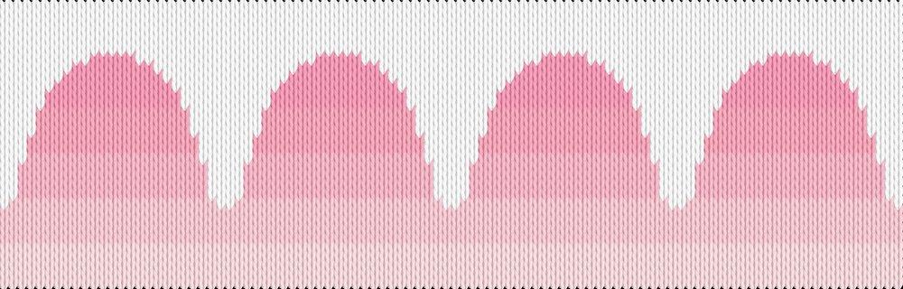 Knitting motif chart, scalloped pattern