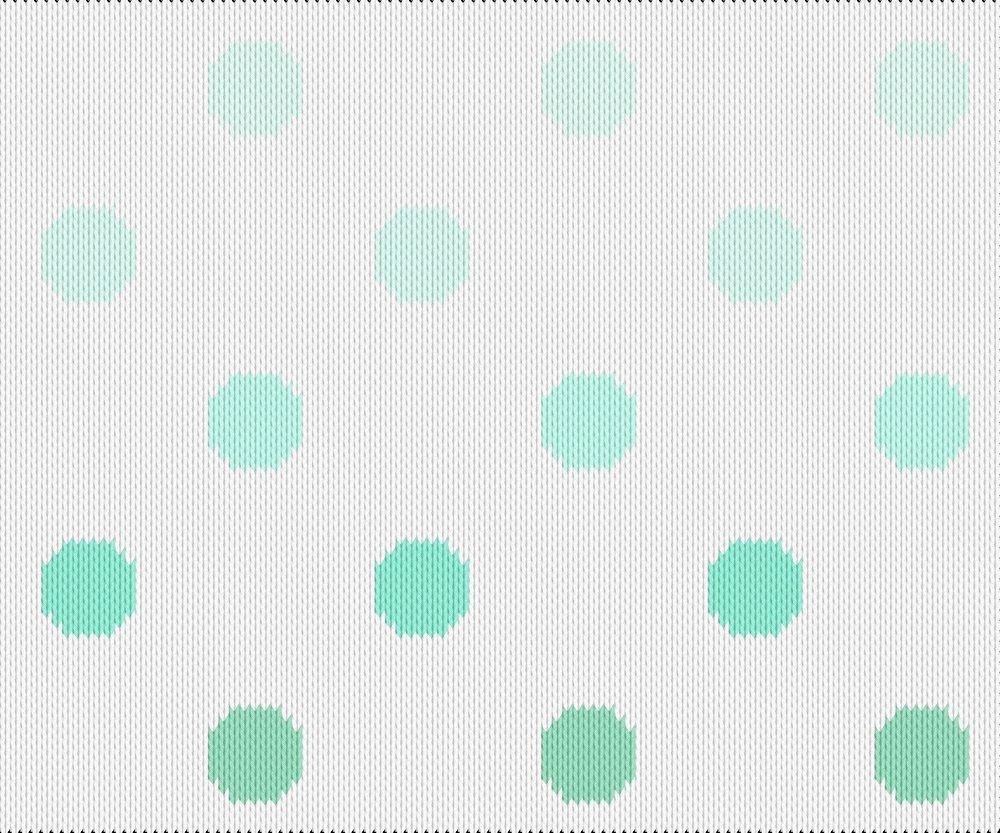 Knitting motif chart, mint dots