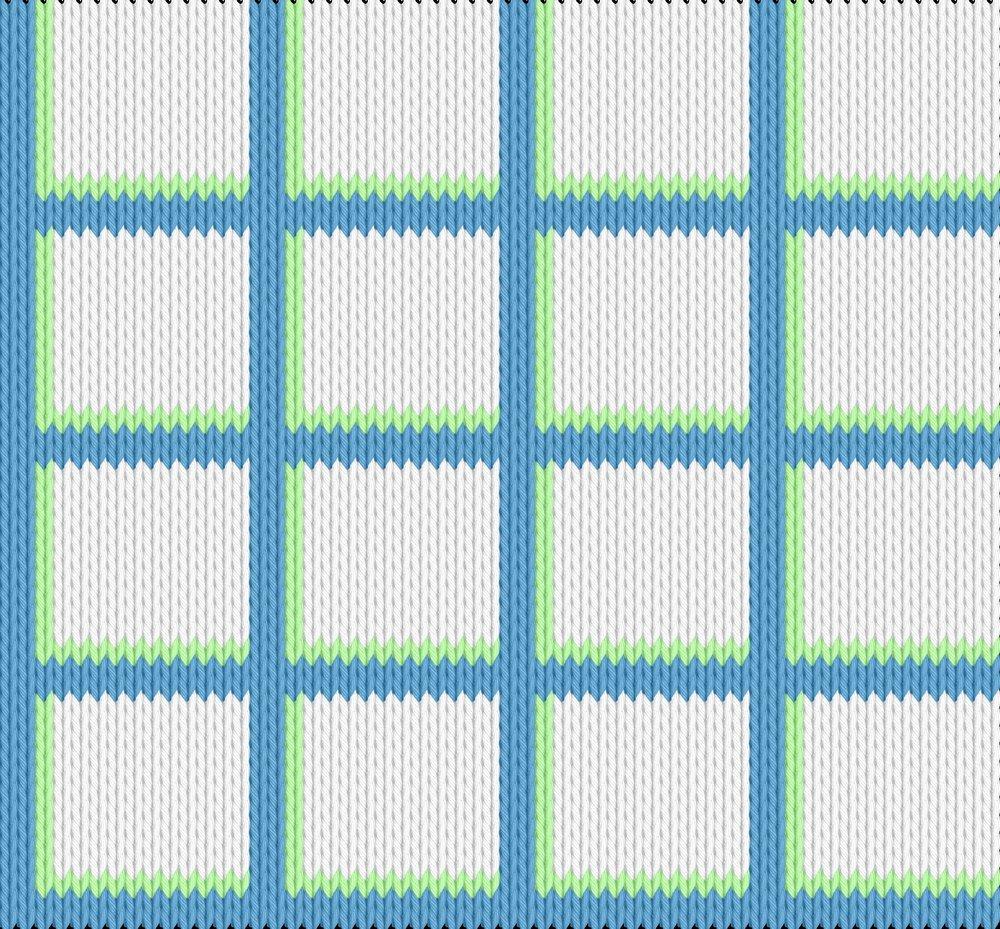 Knitting motif chart, grid pattern
