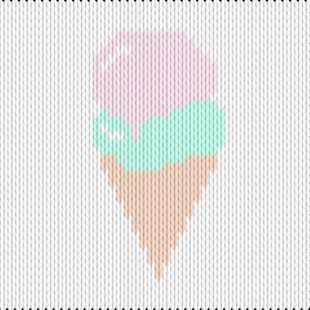 Knitting motif chart, gelato
