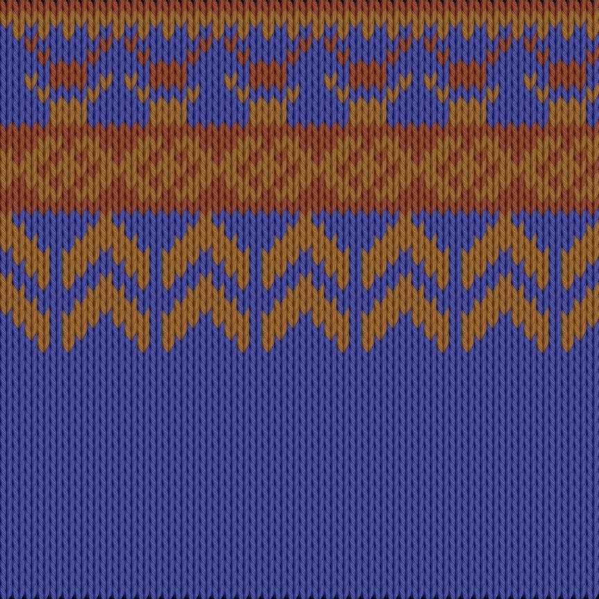 Knitting motif chart, Lapis, Rust, brick