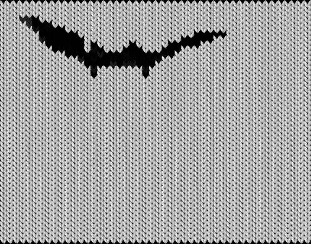 Knitting motif chart, denever
