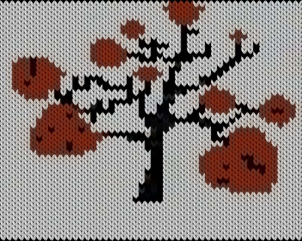Knitting motif chart, sdaf