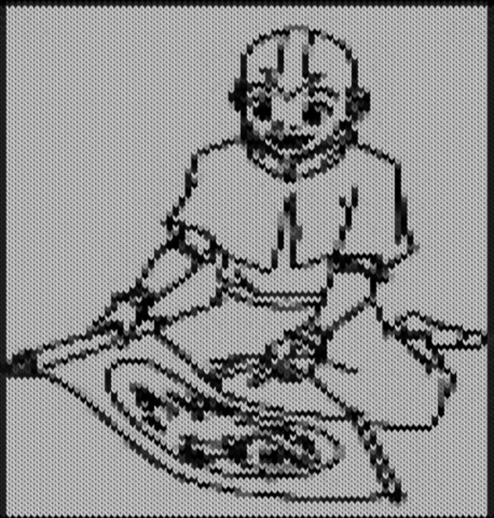 Knitting motif chart, Aang