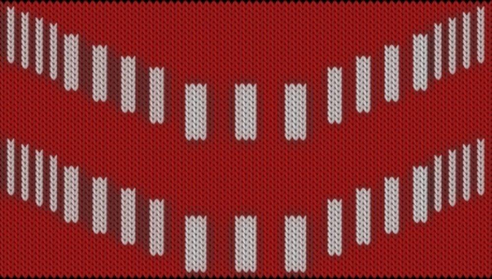 Knitting motif chart, grafisk