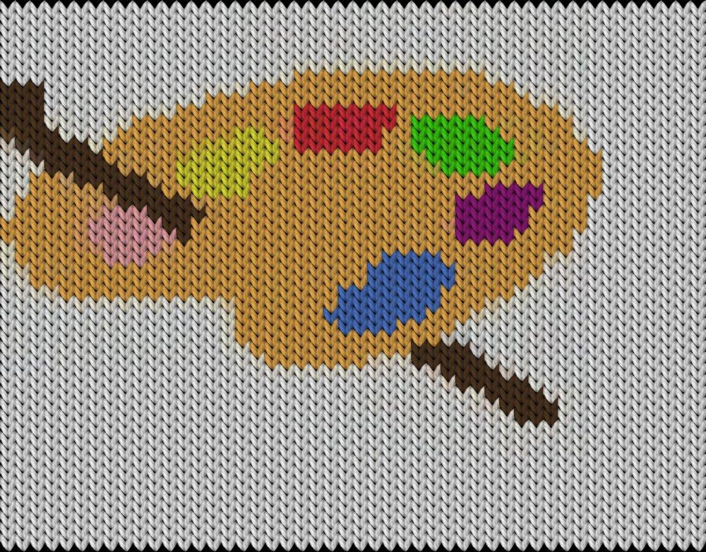 Knitting motif chart, Paleta
