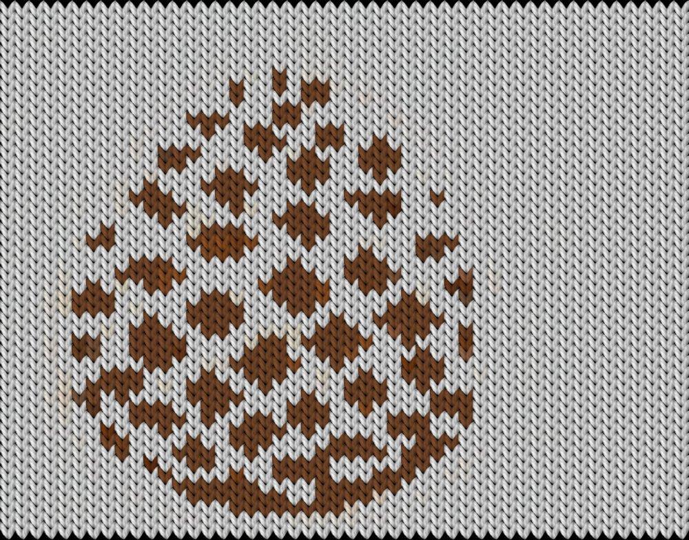 Knitting motif chart, Cone