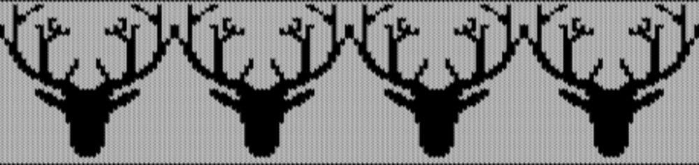 Knitting motif chart, Antlers