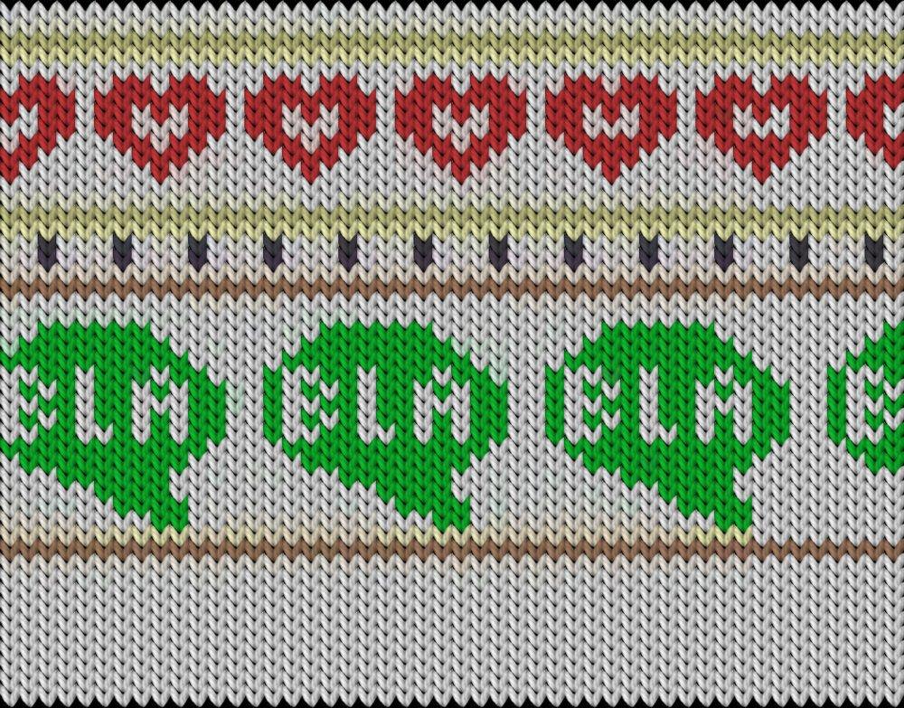 Knitting motif chart, Bla