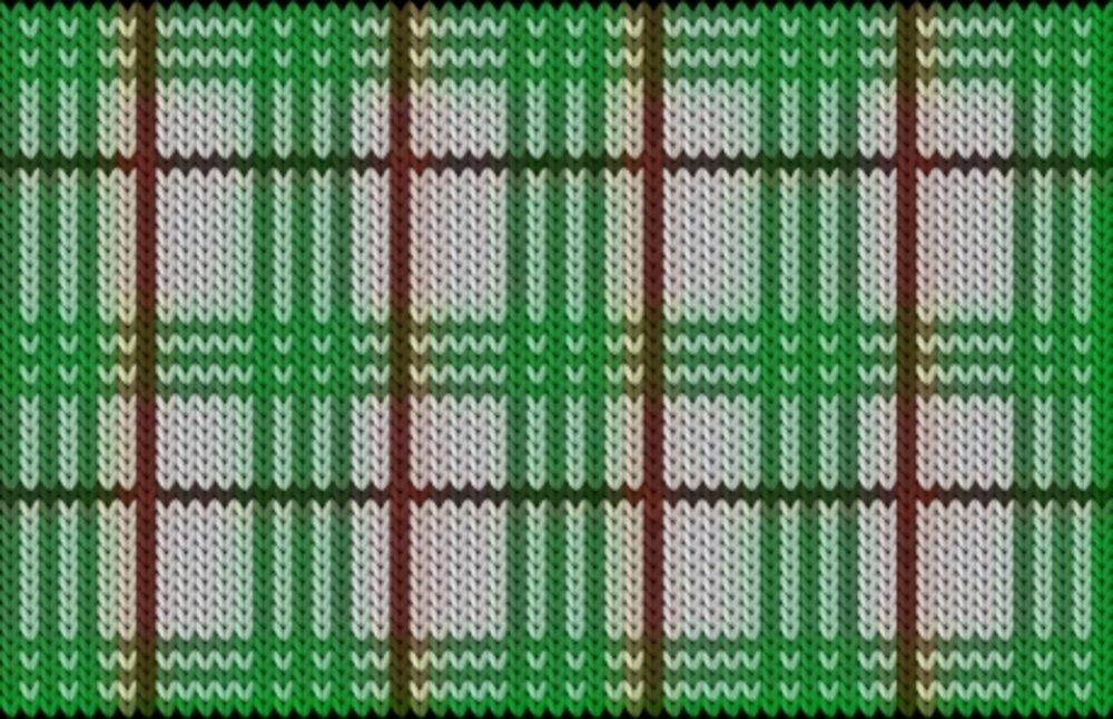 Knitting motif chart, Checkered