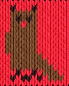 Knitting motif chart, Owl