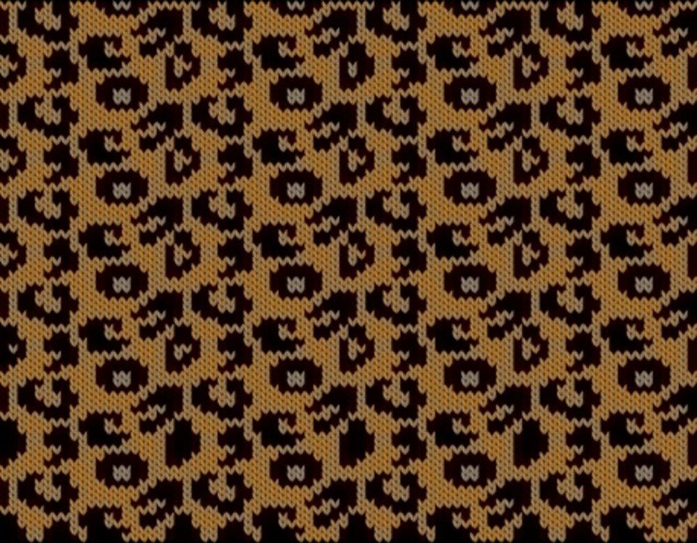 Knitting motif chart, Leopard