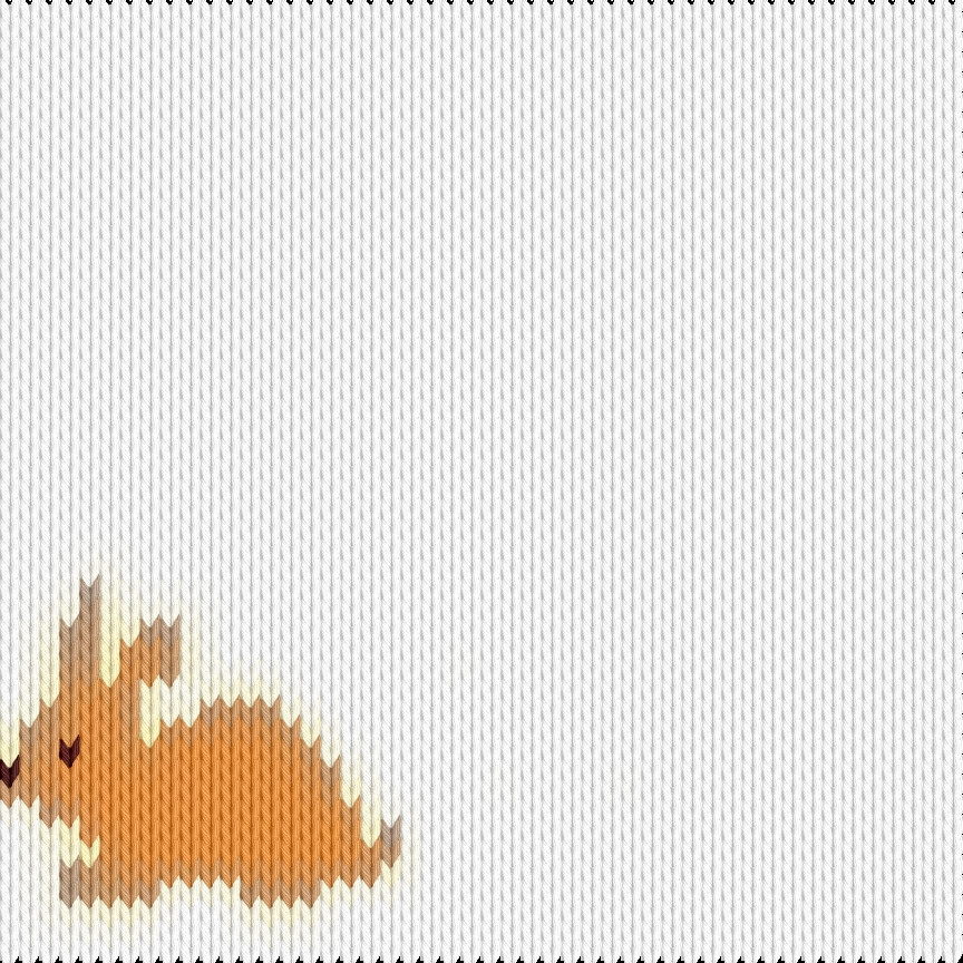 Knitting motif chart, Rabbit