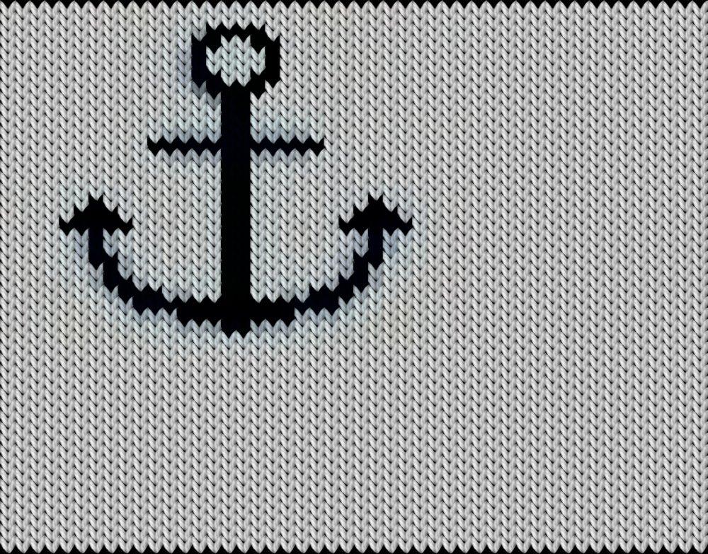 Knitting motif chart, krok