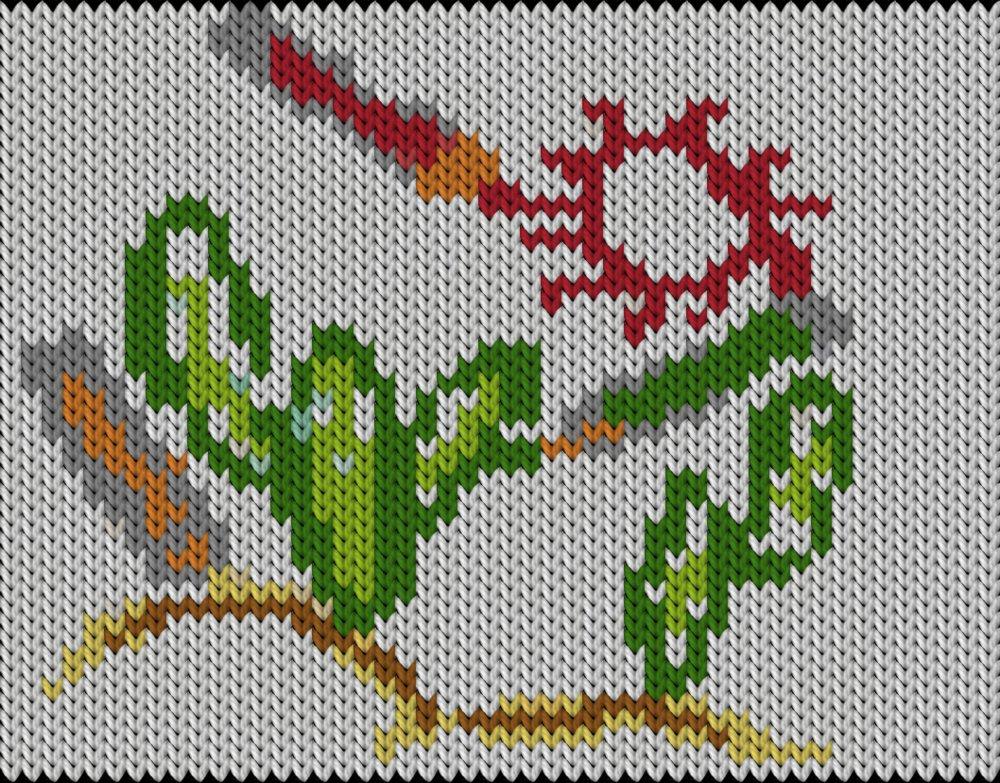 Knitting motif chart, Anchors