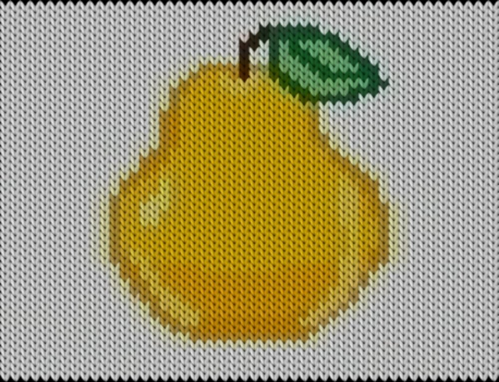 Knitting motif chart, Pear