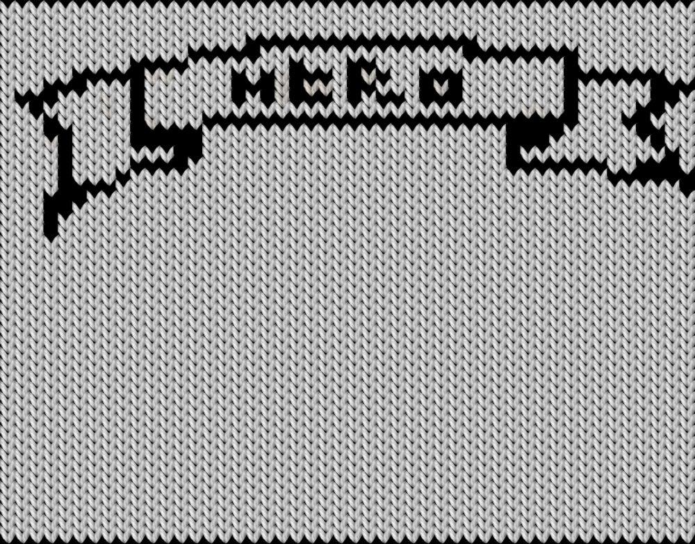 Knitting motif chart, Hero