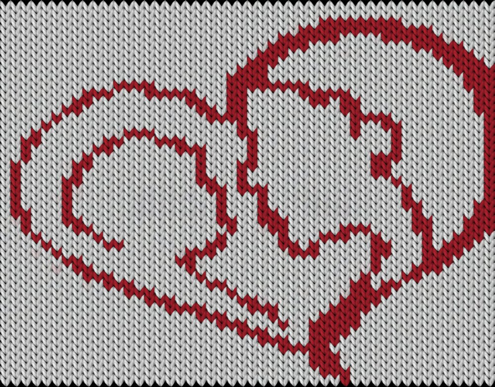 Knitting motif chart, Mother Love