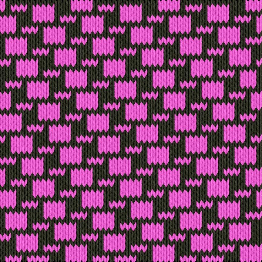 Knitting motif chart, Brick by brick