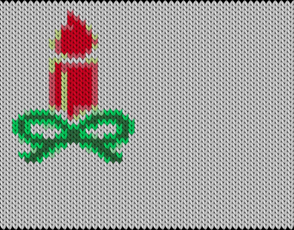 Knitting motif chart, light