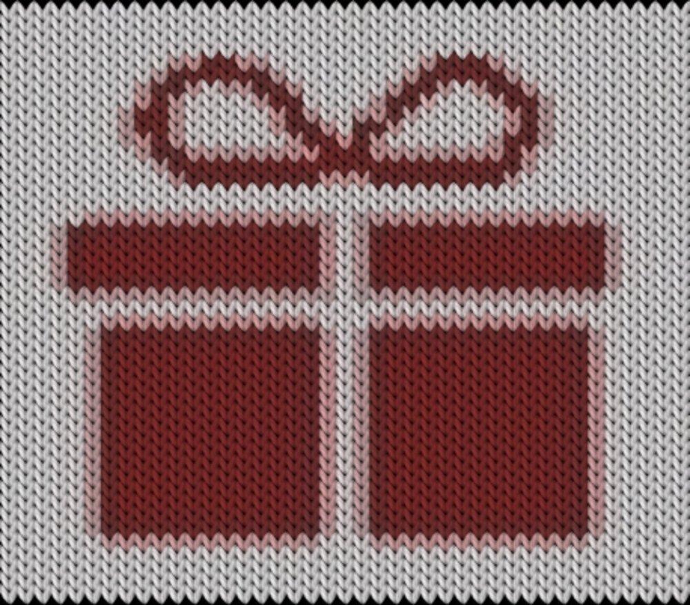 Knitting motif chart, Present