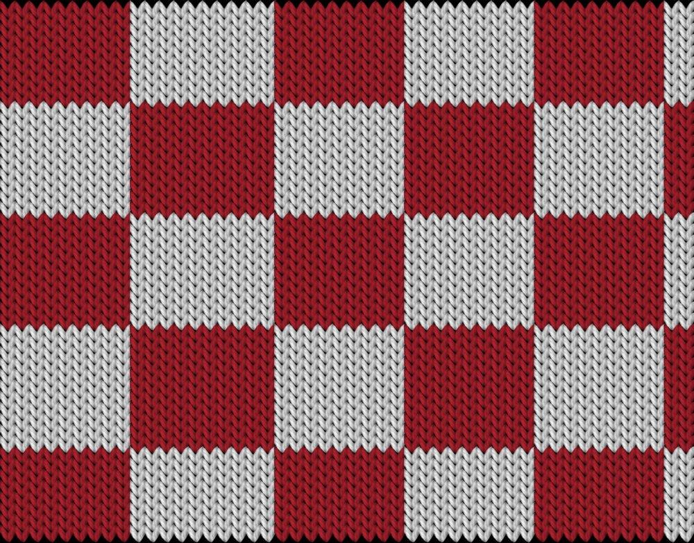 Knitting motif chart, chequered pattern