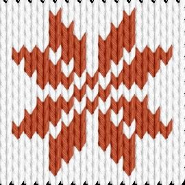 Knitting motif chart, Snoflake