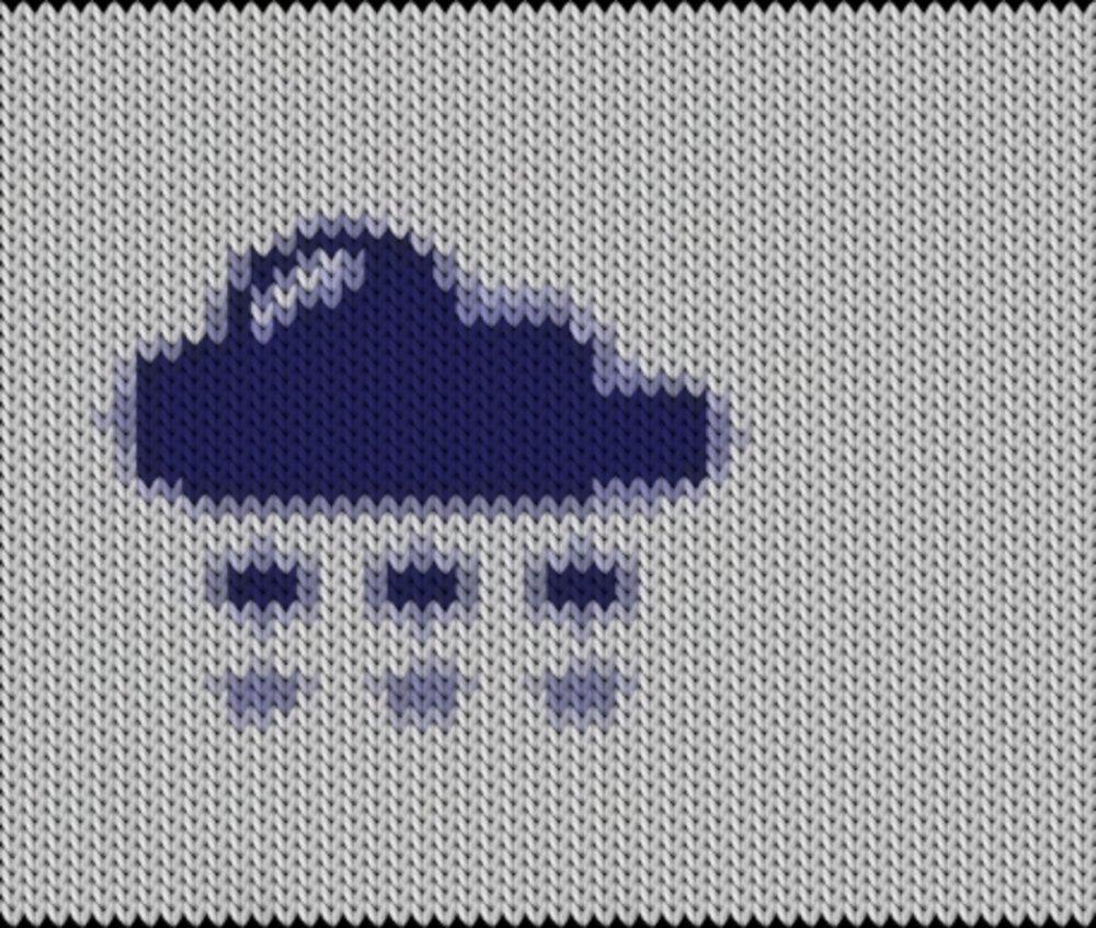 Knitting motif chart, Cloud